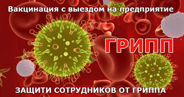 Осторожно грипп. Пора прививаться!